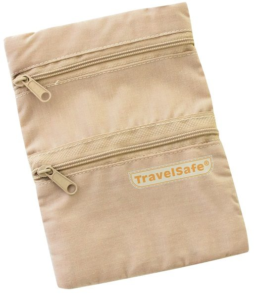Travelsafe Beige Reisportemonnee Halstasje Security Pocket