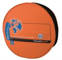 Oranje opberghoes tweepersoons Travelsafe Tropenproof Klamboe Pop-Out