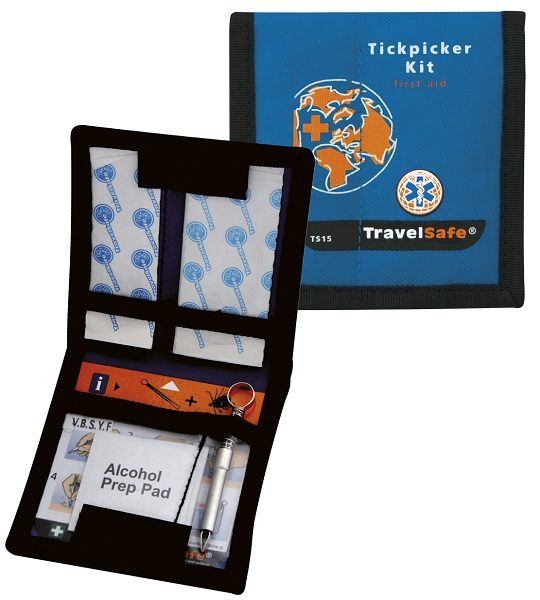 Blauwe Travelsafe EHBO Kit - Teken Set