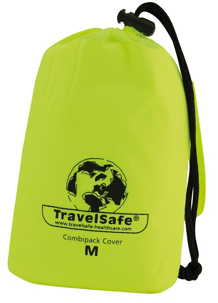 Opberghoes gele Travelsafe Regen-/transporthoes (Medium)