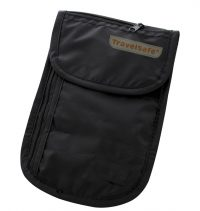 Travelsafe Zwarte Reisportemonnee Halstasje Check Out