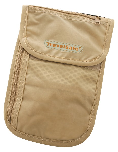Travelsafe Beige Reisportemonnee Checkout