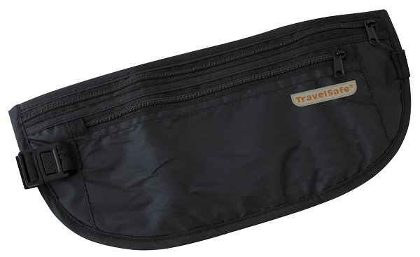 Travelsafe Zwarte Reisportemonnee Geldgordel Light Weight