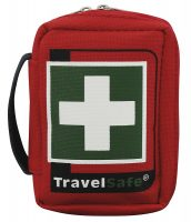Voorkant rode Travelsafe EHBO Kit - Compact